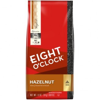 Eight O'Clock Hazelnut Ground Coffee, 11 oz