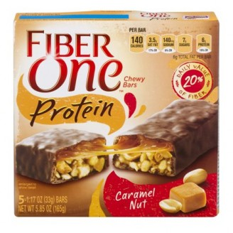 Fiber One 90 Calorie Chocolate Caramel & Pretzel Chewy Bars, 0.82 oz, 5 count