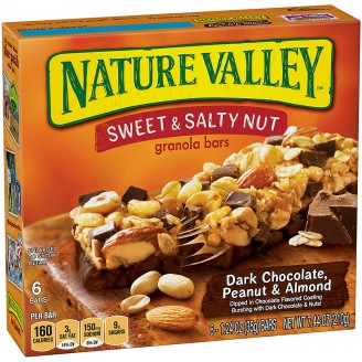 Nature Valley Sweet and Salty Nut Granola Bars - Choc Pnt Almnd - 1 Box (6 bars)
