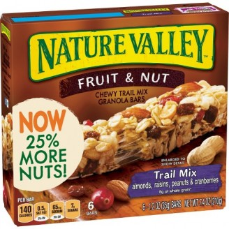 nature Valley Chewy Trail Mix Bars - Fruit and Nut - 1 Box (6 bars)