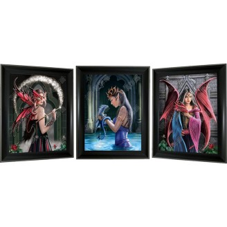 3D Lenticular picture w/ frame – Fairies Triple Images