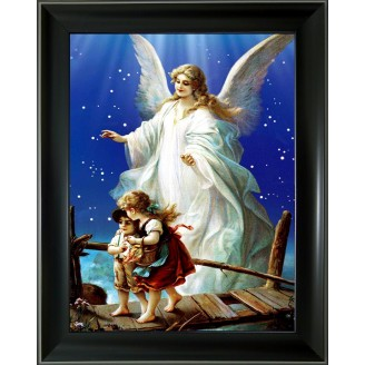 3D Lenticular picture w/ frame Bridge guardian angle