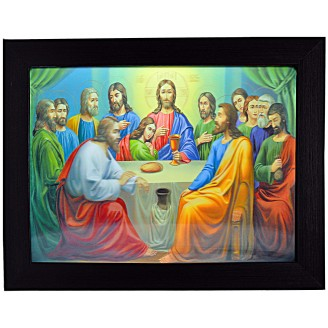 3D Lenticular picture w/ frame Last Supper