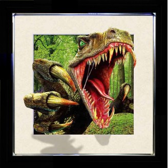 5D Lenticular picture w/ frame T-REX Dinosaurs