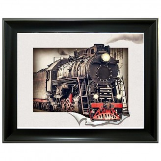 5D Lenticular picture w/ frame Train