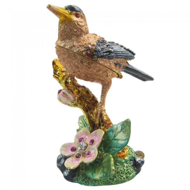 JF1255 Hummingbird Trinket Jewelry Box