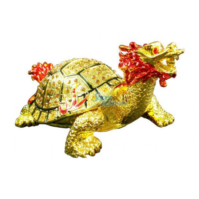 JF1428 Dragon Turtle Trinket Jewelry Box 4.5 x 3 x 4