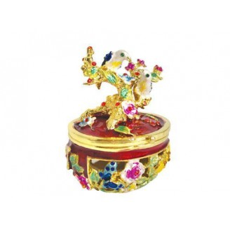 JF1490 Tree & Birds Trinket Jewelry Box