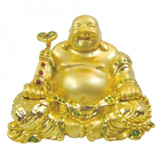 JF1534 Laughing Buddha Trinket Jewelry Box 4.5x2.6x3.6