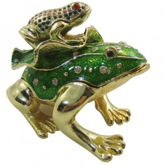 JF1798 Big Frog Little Frog  Trinket Jewelry Box B1264.5 x 4 x 3.5