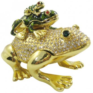 JF1799 Frog Pile Trinket Jewelry Box  5.2 x 4 x 5.2