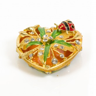 JF1817 Leafy Heart Box Trinket Jewelry Box