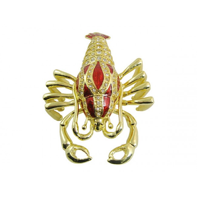 JF1891 Red Lobster Trinket Jewelry Box