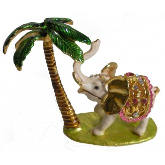 JF3034 Elephant Trinket Jewelry Box