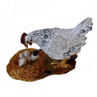 JF3094 Little Hen Trinket Jewelry Box