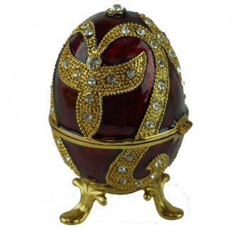 JF3190 Red Egg Trinket Jewelry Box