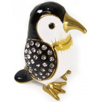 JF3225 Penguin Trinket Jewelry Box  3.2 x 2.2 x 2.5