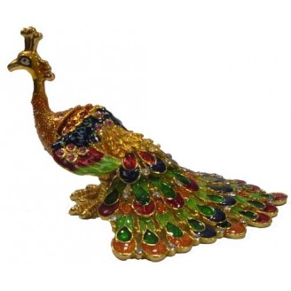 JF3234 Sunshine Peacock  Trinket Jewelry Box
