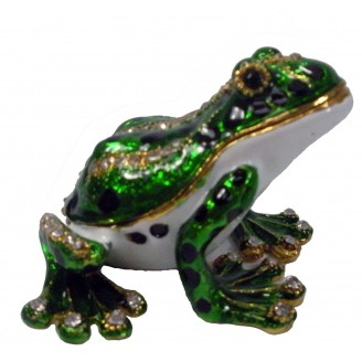 JF3244 White Belly Frog Trinket Jewelry Box