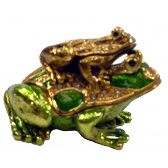 JF3257 Mother and Baby Frog  Trinket  4.5 x 3.5 x 4
