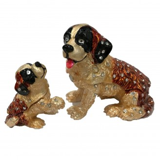 JF3864 Dog with Baby Trinket  3.5 x 2.2 x 3.5