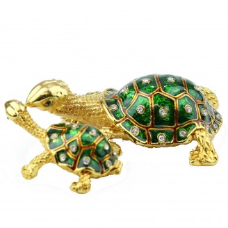 JF3931 Turtle Green Color  Trinket Box