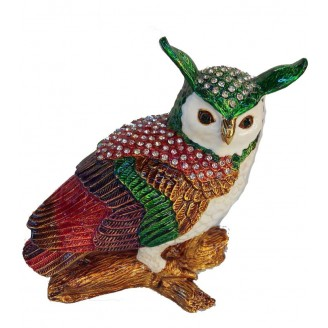 JF4323 Owl  Trinket Box