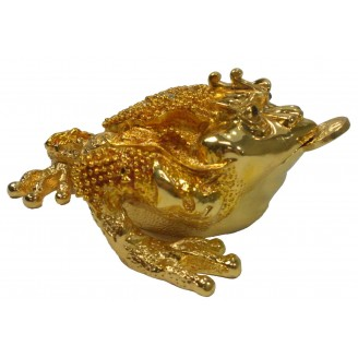 JF8797 Golden Fortune Toad Creature  Trinket Box