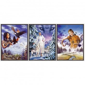 LED Lighted 3D Picture Frame -  Maiden Triple Images