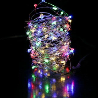 35ft LED Multi color fairies string light copper-wire Battery-Powered & USB Power