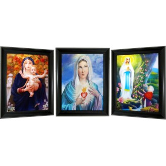 3D Lenticular picture w/ frame - Marry  Triple Images