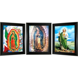3D Lenticular picture w/ frame - Religious Lady GuadeloupeTriple Images