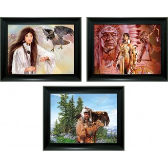 3D Lenticular picture w/ frame - Indian Chief Trip. Images