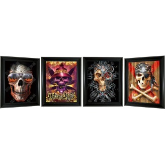3D Lenticular picture w/ frame – Pirate Skull Triple Images