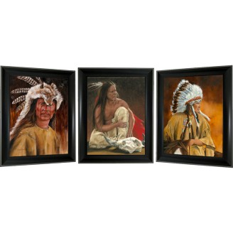 3D Lenticular picture w/ frame – Native Indian Triple Images