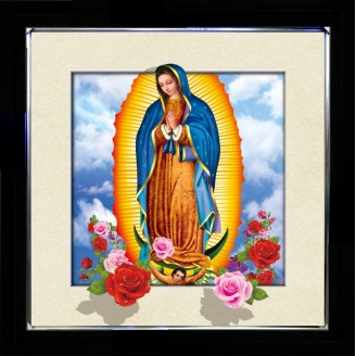 5D Lenticular picture w/ frame Guadaloupe